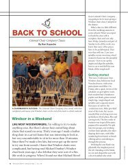 to read the Woodcraft Magazine article - Colonial Chair Company