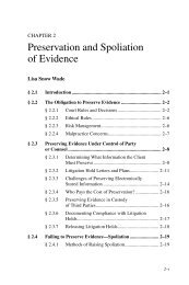 Preservation and Spoliation of Evidence - MCLE