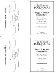 Boggs Concave Spokeshave.indd - Axminster Tool Centre