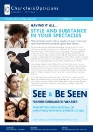 style and substance in your spectacles - Chandlers Opticians