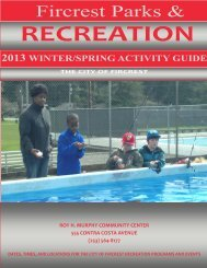 Parks and Recreation Winter Brochure - City of Fircrest