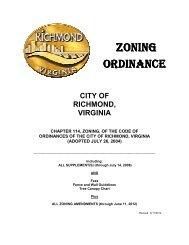 ZONING ORDINANCE ORDINANCE - City of Richmond