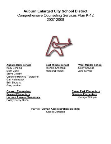 Counseling Services Plan - Auburn Junior High School - cnyric