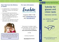 Disability Support Services - Spectacles Subsidy ... - Kidshealth