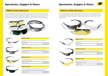 Spectacles, Goggles & Visors Spectacles, Goggles & Visors
