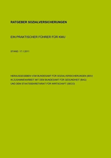 Ratgeber Sozialversicherung - RDW Treuhand AG