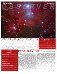 STELLAR SPECTACLES - the Denver Astronomical Society