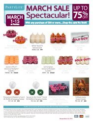 Spectacular! - PartyLite Consultant Business Center