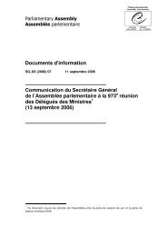 SG-AS (2006) - Council of Europe Parliamentary Assembly