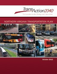 TransAction 2040 Project Plan Summary - Northern Virginia ...