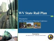 WHAT IS A STATE RAIL PLAN? - West Virginia