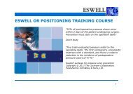 ESWELL OR POSITIONING TRAINING COURSE
