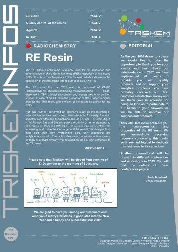 RE Resin - TrisKem International