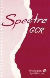 Spectre GCR Manual Manuals - Atari Documentation Archive