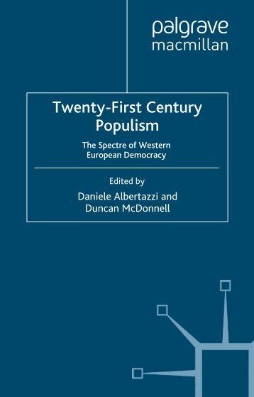 Twenty-First Century Populism: The Spectre of Western European ...