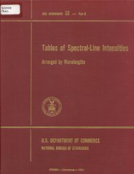 Tables of Spectral-Line Intensities