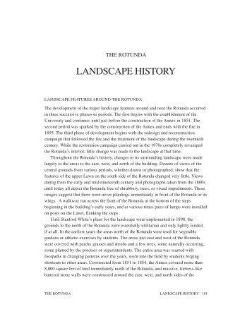Landscape History - University of Virginia