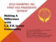 first vice president's presentation - National Association of Negro ...