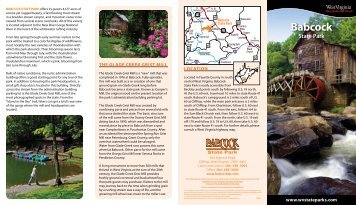Babcock State Park Brochure - West Virginia Department of ...