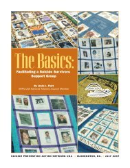 The Basics: Facilitating a Suicide Survivors Support Group