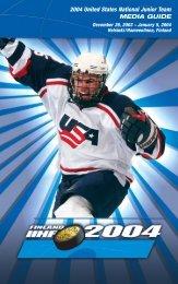 04 Junior National Team Guide - USA Hockey