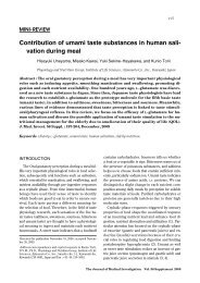 Contribution of umami taste substances in human - The Journal of ...