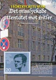 Det misslyckade attentatet mot Hitler - Nordisk Filateli
