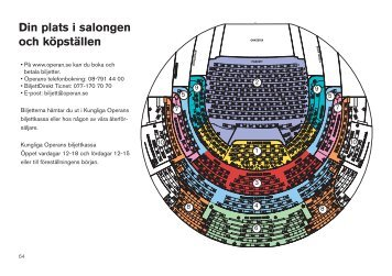 Din plats i salongen och köpställen - Kungliga Operan