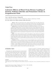 Calciuric Effects of Short-Term Dietary Loading of Protein, Sodium ...