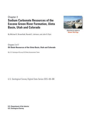Sodium Carbonate Resources of the Eocene Green River ... - USGS