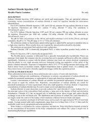 0.9% Sodium Chloride Injection, USP - Hospira