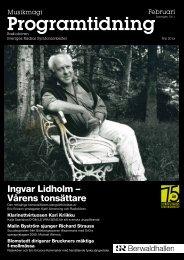 Programtidning Berwaldhallen Februari 2011 (pdf) - Sveriges Radio