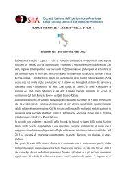 SEZIONE PIEMONTE – LIGURIA – VALLE D' AOSTA ... - SIIA