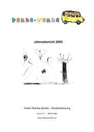 Jahresbericht 2005 - Verein Ramba-Zamba, Uster