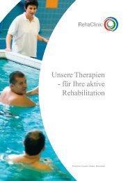 Unsere Therapien - für Ihre aktive Rehabilitation - RehaClinic