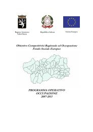 Programma Operativo Regionale - DpS