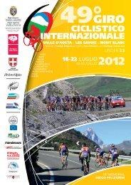 depliant 2012 - Giro Ciclistico Internazionale della Valle d'Aosta