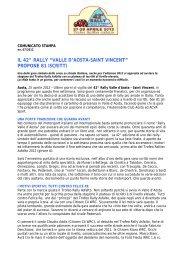 25.04.2012: Il Rally Valle d'Aosta propone - 42° Rally della Valle d ...