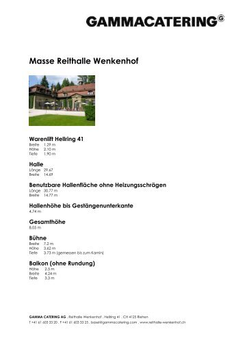 Masse Reithalle Wenkenhof