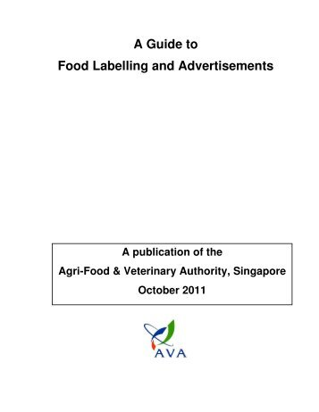 A Guide To Food Labelling And Advertisements – Version