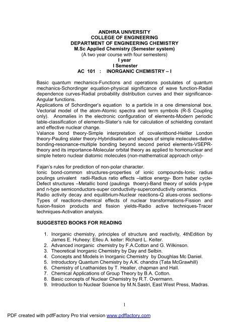 Advanced Inorganic Chemistry Cotton Pdf
