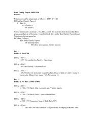 Bard Family Papers 1600-1956 Boxes 1- Notation ... - Bard College