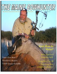 November 2011 - Maine BowHunters Association