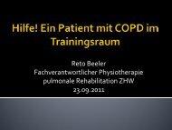 Hilfe! Ein Patient mit COPD im Trainingsraum