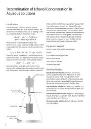Determination of Ethanol Concentration in Aqueous ... - Chemteach