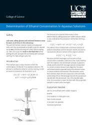 Determination of Ethanol Concentration in Aqueous Solutions