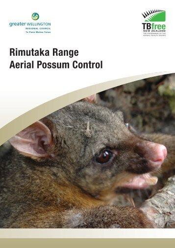 Rimutaka Range Aerial Possum Control brochure - Greater ...