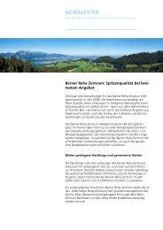 NEWSLETTER - Berner Reha Zentrum