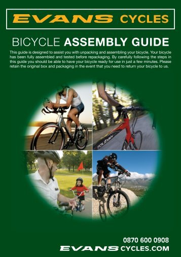 BICYCLE ASSEMBLY GUIDE - Evans Cycles