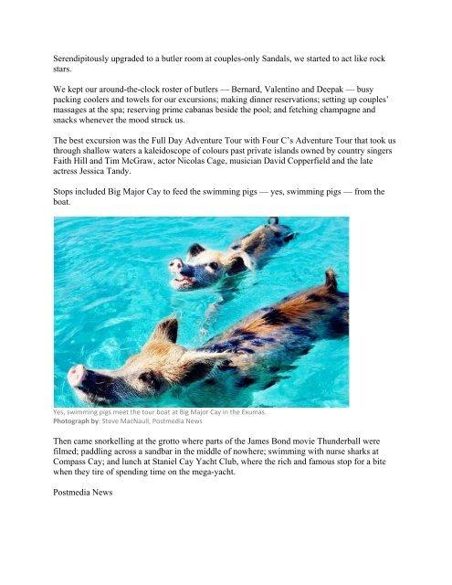Paradise Found - Ottawa Citizen - Grand Isle Resort & Spa